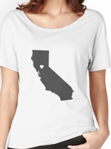 California Charcoal Women's Relaxed Fit T-Shirt