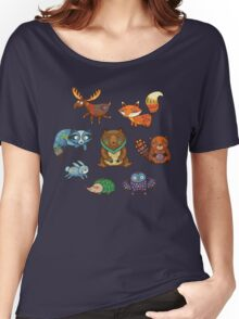 Woodland annimals Women's Relaxed Fit T-Shirt