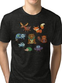 Woodland annimals Tri-blend T-Shirt