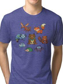 Woodland annimals Tri-blend T-Shirt