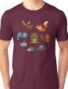 Woodland annimals Unisex T-Shirt