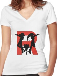 Team Rocket Women's Fitted V-Neck T-Shirt
