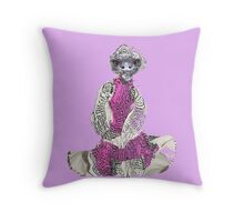 Quirky Vintage  Looking  Emu   Throw Pillow