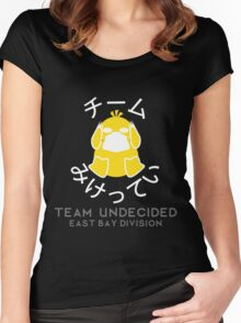 TEAM UNDECIDED- EBD (WHITE TEXT) Women's Fitted Scoop T-Shirt