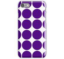 Purple Polka Dots iPhone Case/Skin