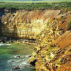 Coastline along Great Ocean Rd. Vic. Australia by EdsMum