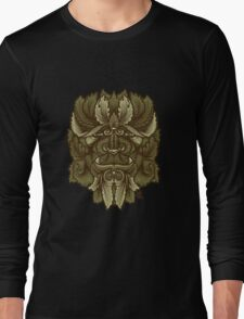 Celtic Green Man Filigree Beast Long Sleeve T-Shirt