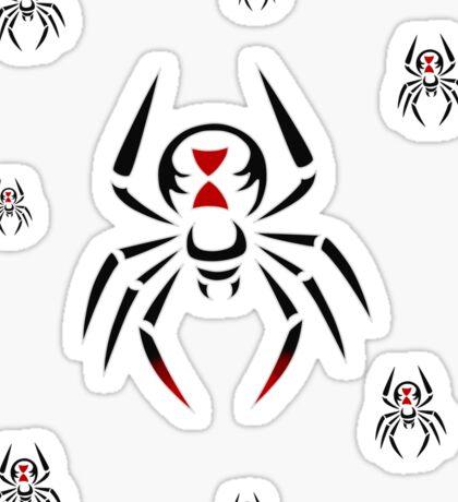 Black Widow Tribal Design Sticker