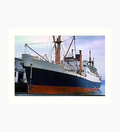 RMS Newfoundland, Ocean Liner Ship in Halifax Art Print