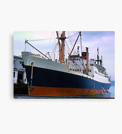 RMS Newfoundland, Ocean Liner Ship in Halifax Canvas Print