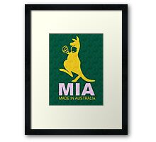 MIA - Made in Australia SILK Framed Print