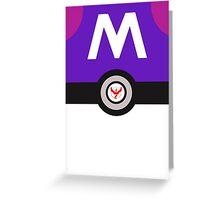 Team Valor Master Ball (Pokemon Go) Greeting Card