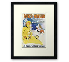 Vintage Jules Cheret Benzo Moteuur Framed Print