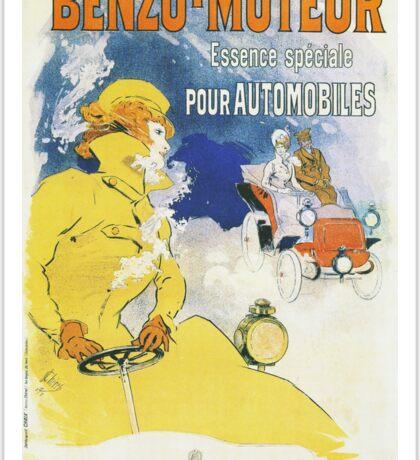 Vintage Jules Cheret Benzo Moteuur Sticker