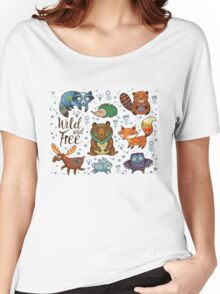 Woodland animals Women's Relaxed Fit T-Shirt