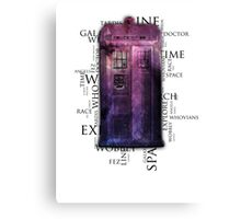 The Doctors Universe Canvas Print
