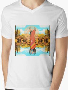 Floating Mens V-Neck T-Shirt
