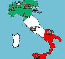 Italy map by Logan81