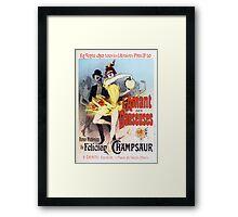 Vintage Jules Cheret L'Amant des Danseuses 1896 Framed Print