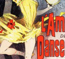 Vintage Jules Cheret L'Amant des Danseuses 1896 Sticker
