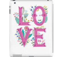 Floral Cute Love T Shirt iPad Case/Skin