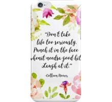 Slammed Colleen Hoover Quote iPhone Case/Skin