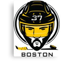 Boston Hockey T-Shirt Canvas Print
