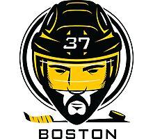 Boston Hockey T-Shirt Photographic Print