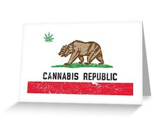 Vintage Cannabis Republic Greeting Card