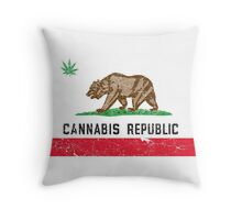 Vintage Cannabis Republic Throw Pillow