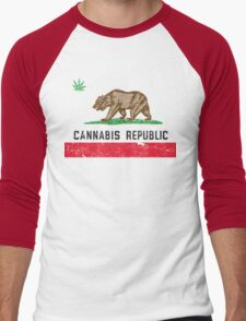Vintage Cannabis Republic Men's Baseball ¾ T-Shirt