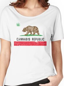 Vintage Cannabis Republic Women's Relaxed Fit T-Shirt