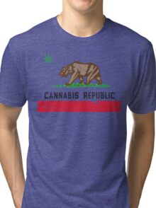 Vintage Cannabis Republic Tri-blend T-Shirt