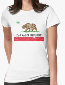 Vintage Cannabis Republic Womens Fitted T-Shirt