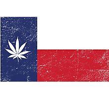 Vintage Texas Cannabis Photographic Print