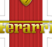 Ferrari Lover #3 [Gold - Red] #2 Sticker