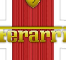 Ferrari Lover #3 [Gold - Red] #2 Sticker