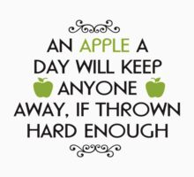 an apple a day will keep anyone Baby Tee