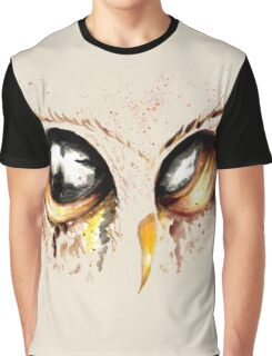 Gold Owl eyes Graphic T-Shirt