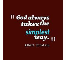 A. Einstein Quote Photographic Print