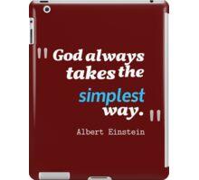 A. Einstein Quote iPad Case/Skin