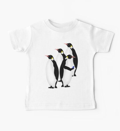 Penguin Using A Cell Phone Baby Tee