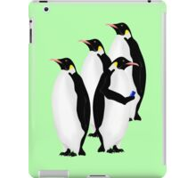Penguin Using A Cell Phone iPad Case/Skin