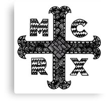 My Chemical Romance MCRX Zentangle Canvas Print