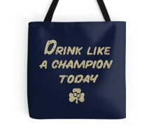 Drink Like a Champion - South Bend Style Dark Blue Tote Bag