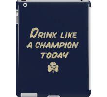 Drink Like a Champion - South Bend Style Dark Blue iPad Case/Skin