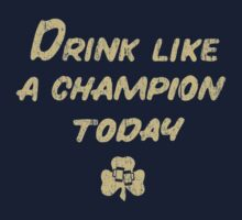 Drink Like a Champion - South Bend Style Dark Blue by medallion