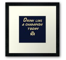 Drink Like a Champion - South Bend Style Dark Blue Framed Print