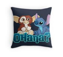 Gizmo and Stitch Throw Pillow