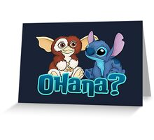 Gizmo and Stitch Greeting Card